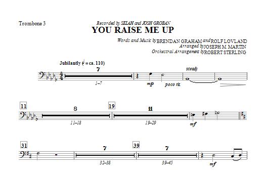 You Raise Me Up - Trombone 3 Sheet Music