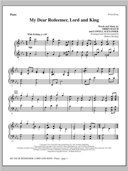 My Dear Redeemer, Lord And King - Piano Sheet Music
