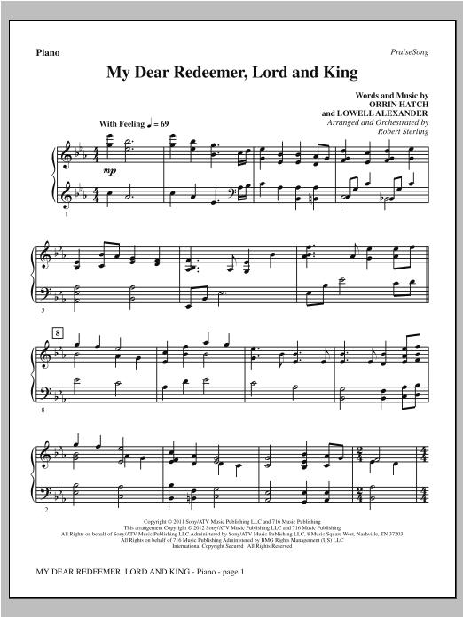 My Dear Redeemer, Lord And King - Piano (Choir Instrumental Pak)