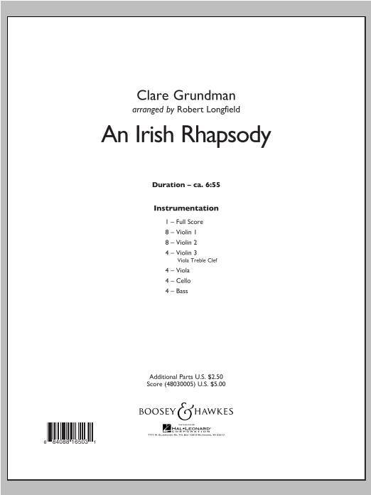 An Irish Rhapsody - Conductor Score (Full Score) Sheet Music