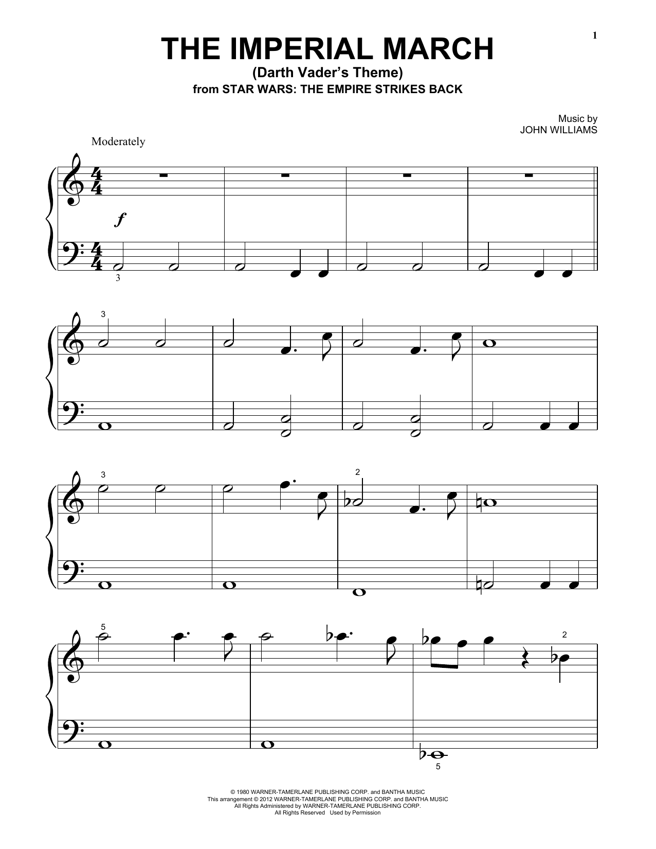 The Imperial March (Darth Vaderu0026#39;s Theme) : Sheet Music Direct