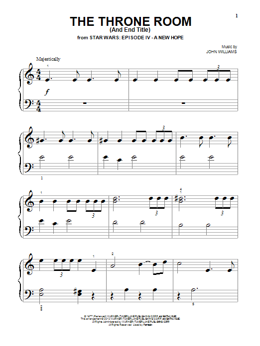 The Throne Room (And End Title) Sheet Music