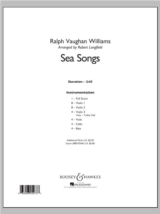 Sea Songs - Conductor Score (Full Score) Sheet Music