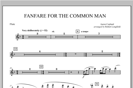 Fanfare For The Common Man - Flute Sheet Music