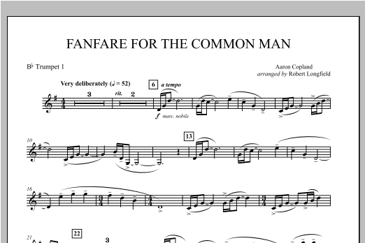 Fanfare For The Common Man - Bb Trumpet 1 Sheet Music