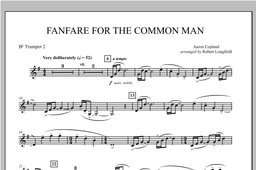 Fanfare For The Common Man - Bb Trumpet 2 Sheet Music