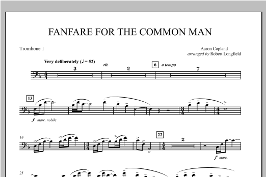 Fanfare For The Common Man - Trombone 1 Sheet Music