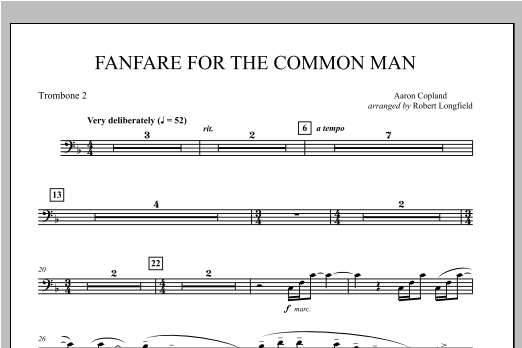 Fanfare For The Common Man - Trombone 2 Sheet Music