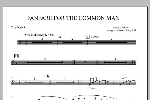 Fanfare For The Common Man - Trombone 3 Sheet Music