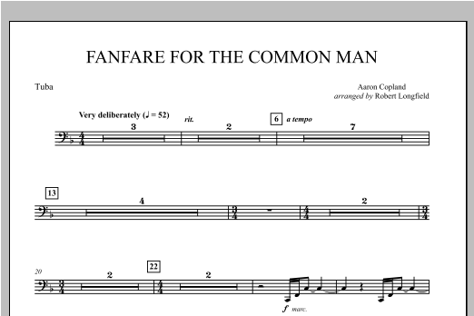 Fanfare For The Common Man - Tuba Sheet Music