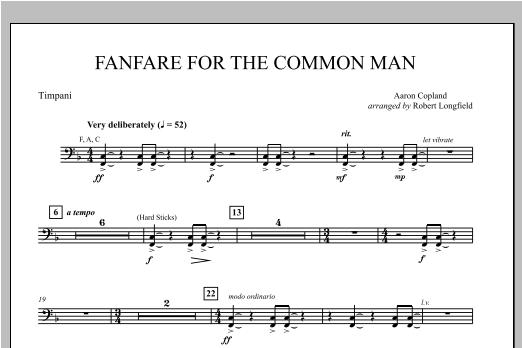 Fanfare For The Common Man - Timpani Sheet Music