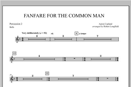 Fanfare For The Common Man - Percussion 2 Partituras Digitales