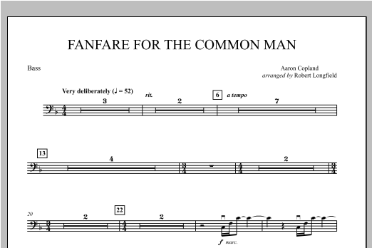 Fanfare For The Common Man - String Bass Sheet Music