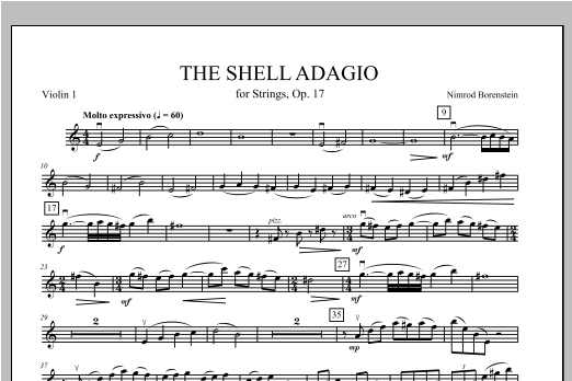 The Shell Adagio - Violin 1 Sheet Music