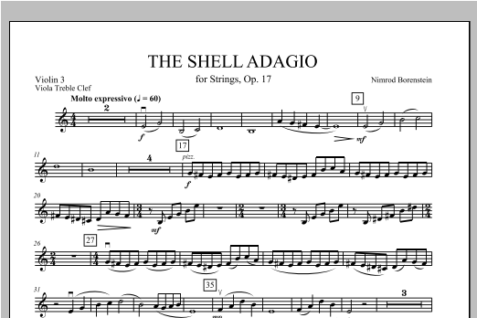 The Shell Adagio - Violin 3 (Viola Treble Clef) Sheet Music