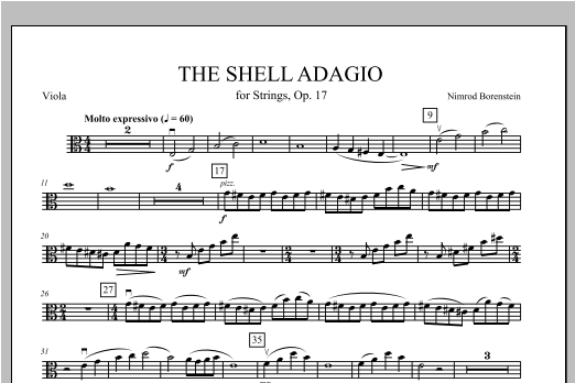 The Shell Adagio - Viola Sheet Music