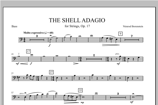 The Shell Adagio - Bass Sheet Music
