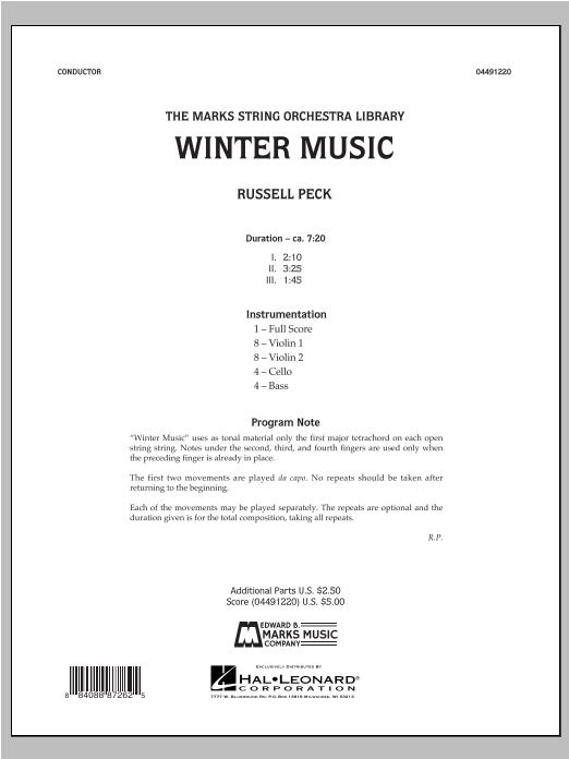 Winter Music - Conductor Score (Full Score) Sheet Music