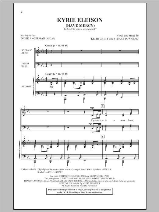 Kyrie Eleison - SATB - (Have Mercy) by Keith Getty