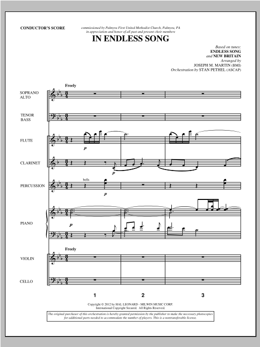 In Endless Song (complete set of parts) sheet music for orchestra/band (Orchestra) by Joseph M. Martin. Score Image Preview.