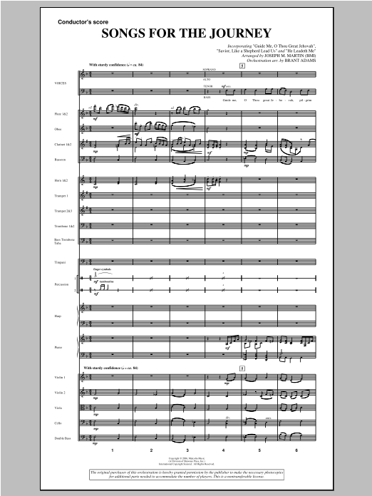 "Songs For The Journey (from ""Footprints In The Sand"") - Score Sheet Music"
