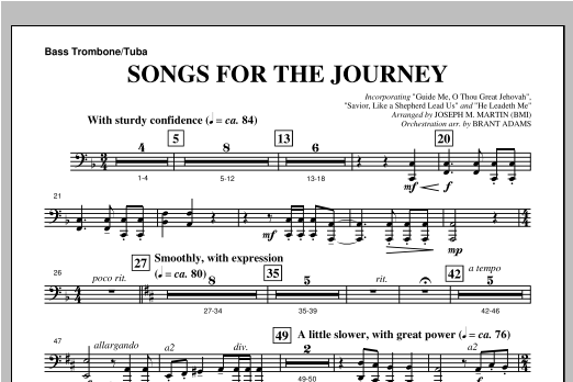 "Songs For The Journey (from ""Footprints In The Sand"") - Bass Trombone/Tuba Sheet Music"