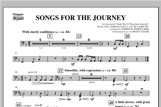 Songs For The Journey From Footprints In The Sand Timpani