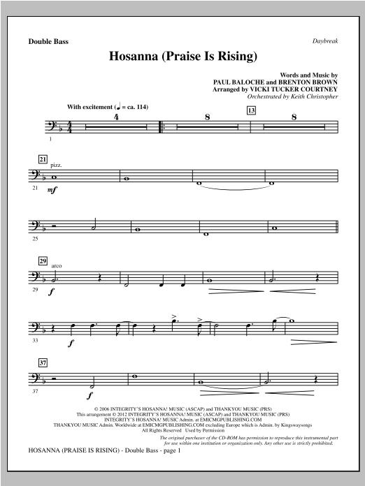 Hosanna (Praise Is Rising) - Double Bass Sheet Music