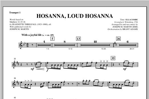 """Hosanna, Loud Hosanna (from """"Covenant Of Grace"""") - Bb Trumpet 1 Sheet Music"""