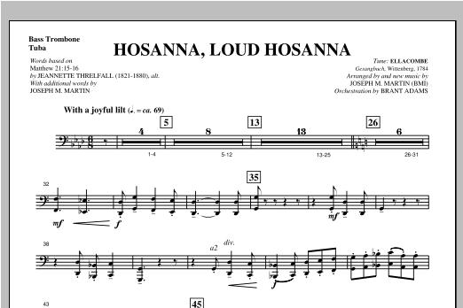 "Hosanna, Loud Hosanna (from ""Covenant Of Grace"") - Bass Trombone/Tuba Sheet Music"