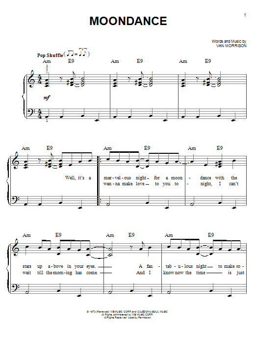 Moondance (Easy Piano)