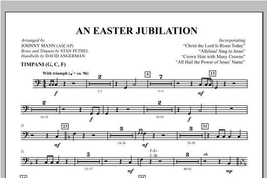 An Easter Jubilation - Timpani Sheet Music