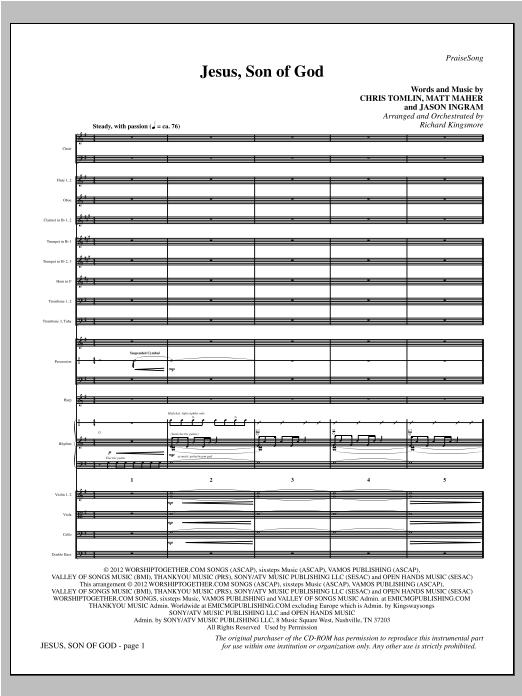 Jesus, Son Of God - Full Score Sheet Music