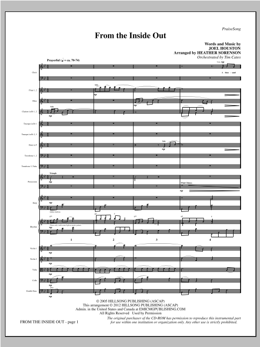 From The Inside Out - Full Score Sheet Music