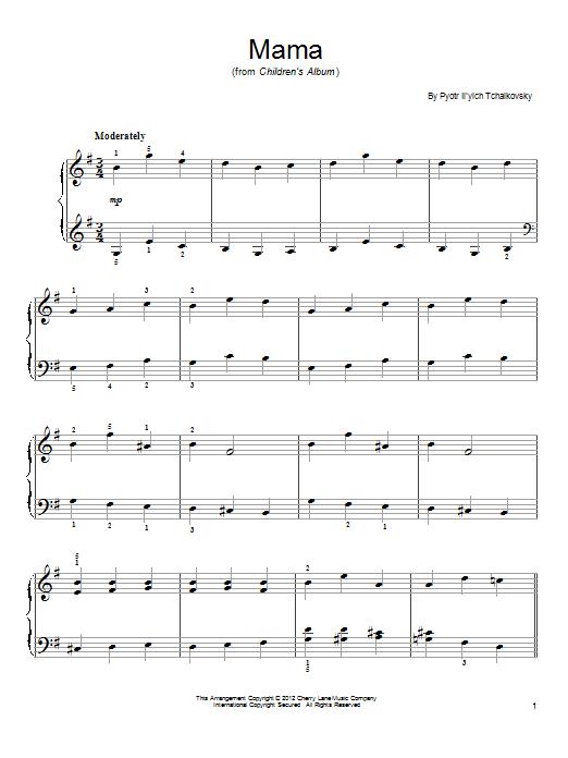 Mama Sheet Music