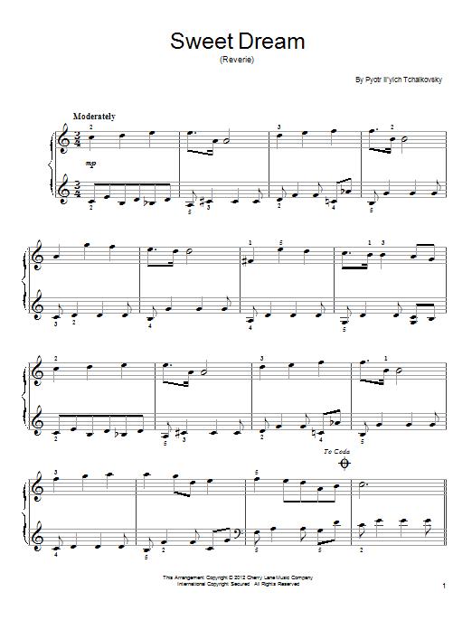 Sweet Dream (Douce Reverie), Op. 39, No. 21 Sheet Music