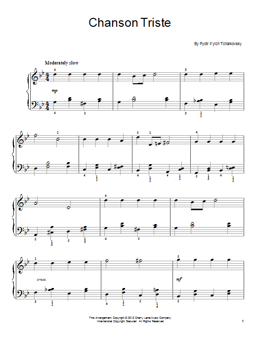 Chanson Triste Sheet Music