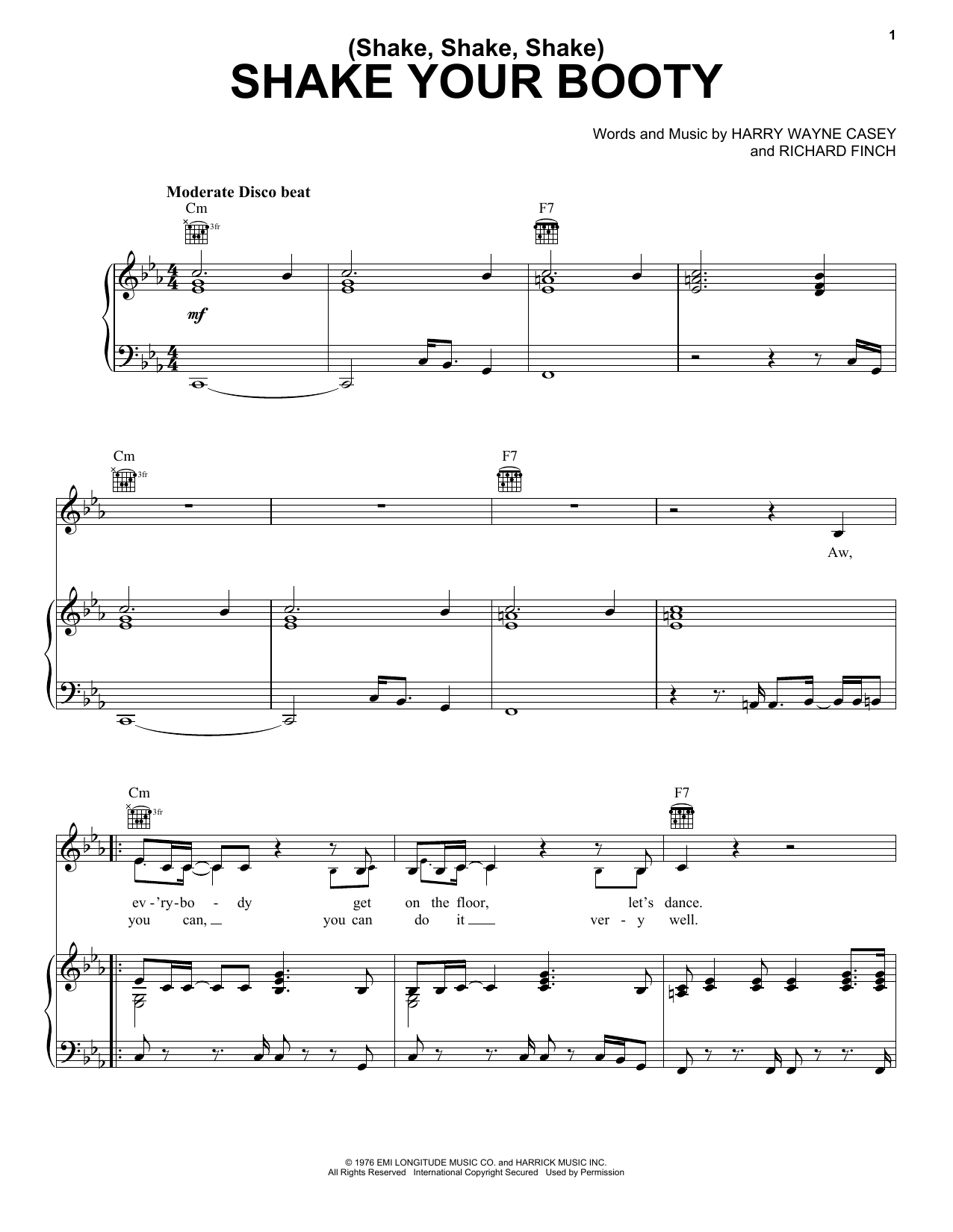 Shake Your Booty Sheet Music