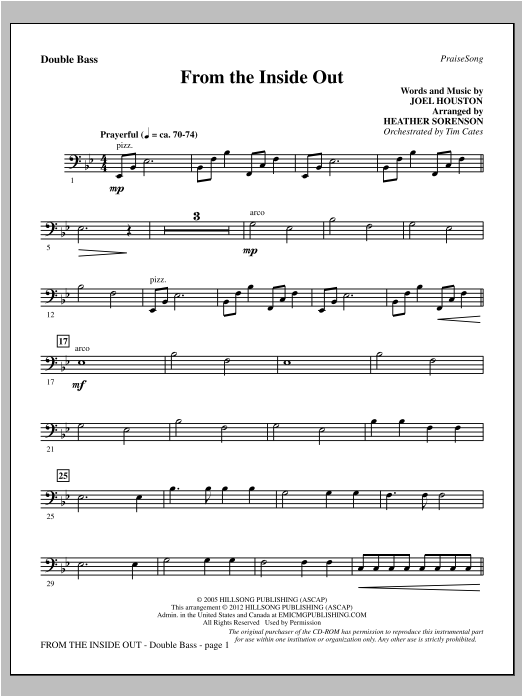 From The Inside Out - Double Bass Sheet Music