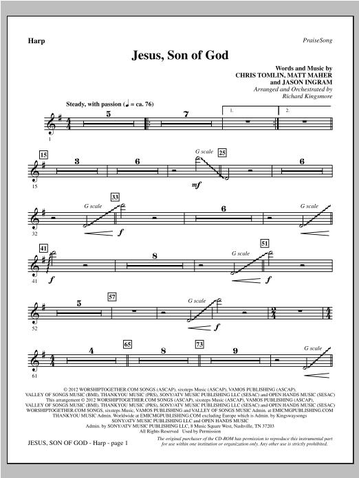 Jesus, Son Of God - Harp Sheet Music