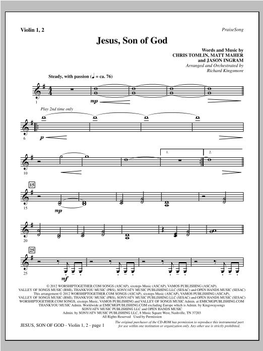 Jesus, Son Of God - Violin 1, 2 Sheet Music