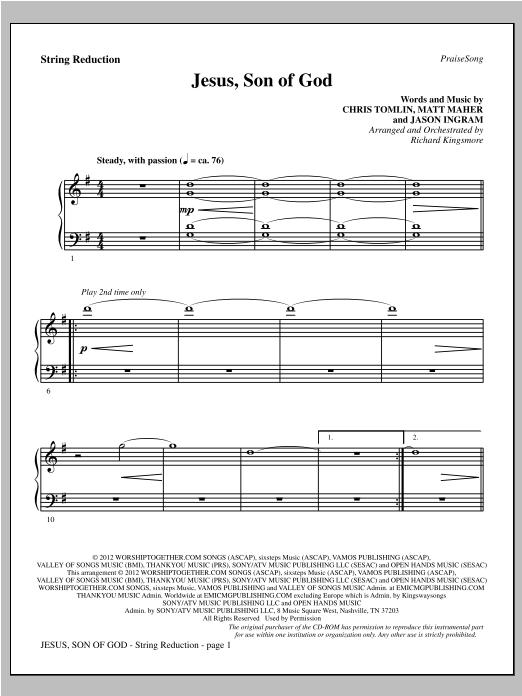 Jesus, Son Of God - Keyboard String Reduction Sheet Music