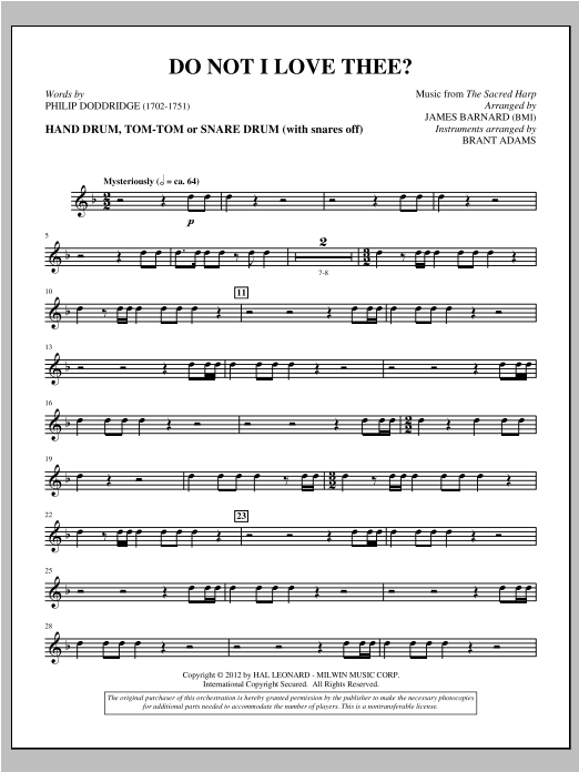 Do Not I Love Thee? - Percussion 1 & 2 Sheet Music