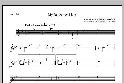My Redeemer Lives - F Horn 1 & 2 Sheet Music