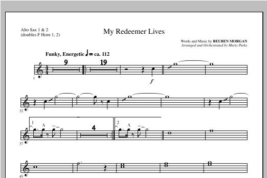 My Redeemer Lives Alto Sax 1 2 Sub Horn 1 2 Sheet Music Direct