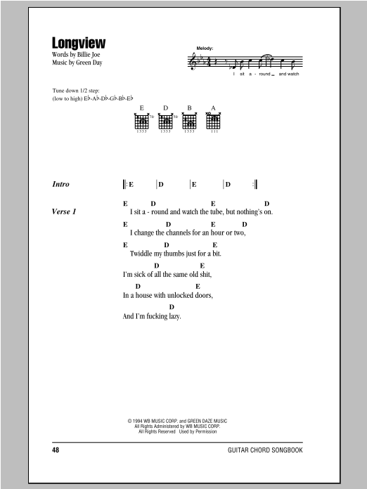 Longview Sheet Music