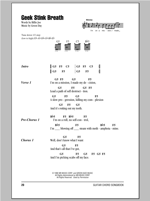 Geek Stink Breath Sheet Music