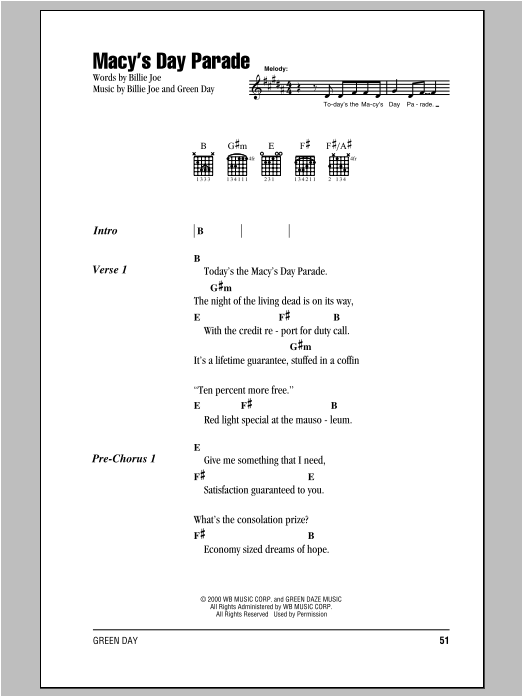 Macy's Day Parade Sheet Music