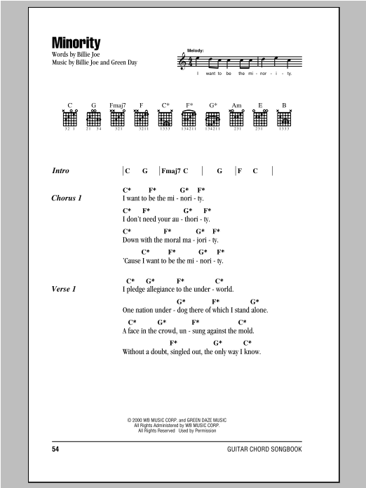 Minority Sheet Music