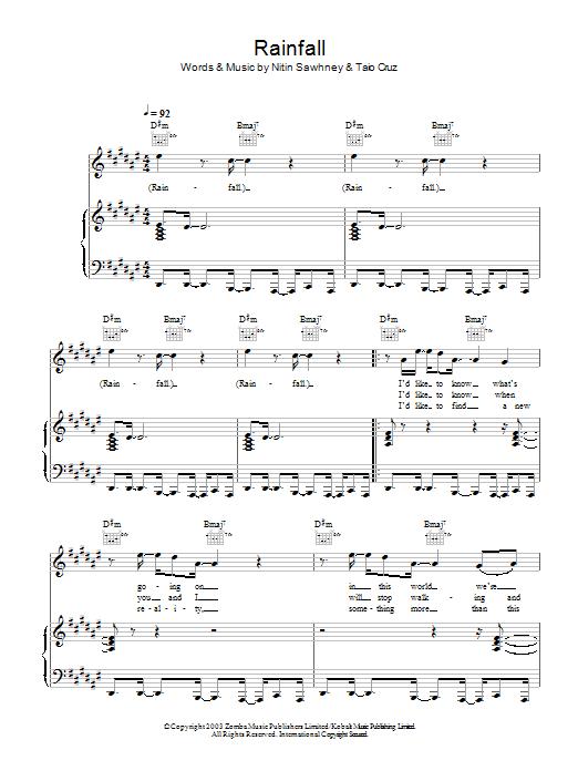 Rainfall Sheet Music